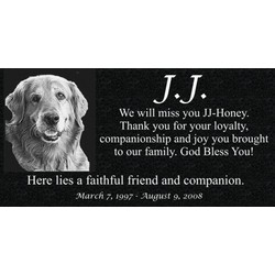 Personalized Granite Pet Memorial with Photo