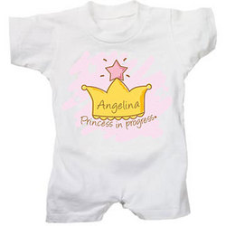 Personalized Princess in Progress T-Romper