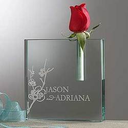 Our Love Blooms Personalized Bud Vase