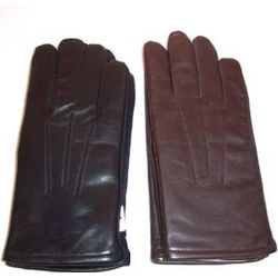 Men's Stretch Leather Fleece Lined Gloves