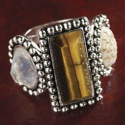 Tiger's Eye Multi-Stone Ring