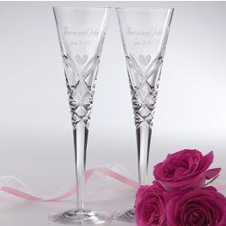 Romance-Inspired Miller Rogaska Crystal Toasting Flutes