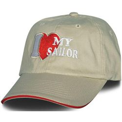 Women's I Love My Sailor Embroidered Ballcap
