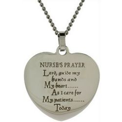 Nurse's Prayer Heart Pendant