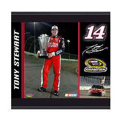 Tony Stewart 2011 Sprint Cup Series Championship Plaque