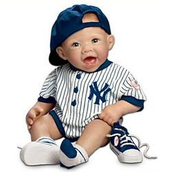 New York Yankees Fan Lifelike Baby Doll