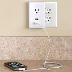 Plug-in USB Wall Outlet