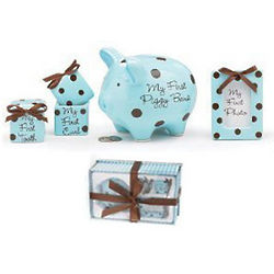 Ceramic Set of Baby Firsts for Boys