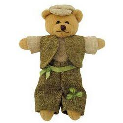 Paddy Bear Plush with Shamrock Bouquet Pants