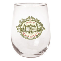 Personalized Chateau Stemless Wine Glasses
