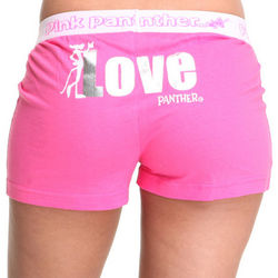Pink Panther Knit Boxers in Pink