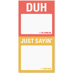 Duh and Just Sayin' Mini Sticky Notes