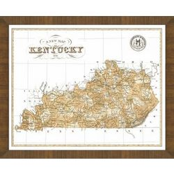 Old Map of Kentucky Framed Print