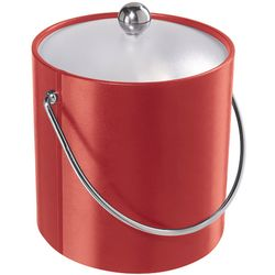 Red Insulated Ice Bucket with Lid