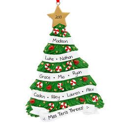 Personalized I Love Preschool Christmas Tree Ornament