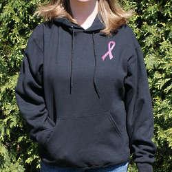 Breast Cancer Pink Hope Ribbon Hooded Sweatshirt