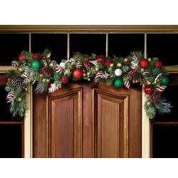 Cordless Prelit Festive Twist Christmas Garland
