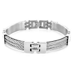 Stainless Steel Triple Cable Link Bracelet