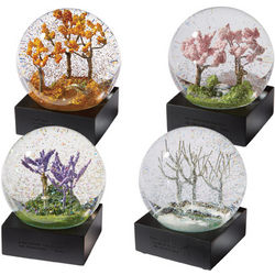 Four Seasons Snow Globes