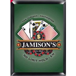 Poker Design Personalized Pub Sign