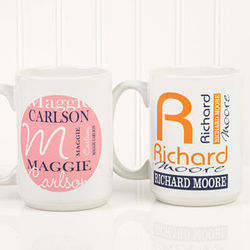 Large Personally Yours Personalized Coffee Mug