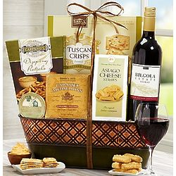 Dad's Premium Red Wine and Gourmet Gift Basket