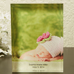 Our Baby Personalized Photo Block