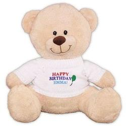 Personalized and Embroidered Happy Birthday Teddy Bear