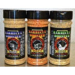 Garlic, Original, and Spicy Barbecue Booster Rubs
