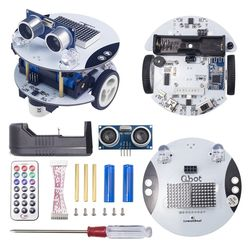 Qbot Programmable Smart Robot Car Kit with Ultrasonic Sensor