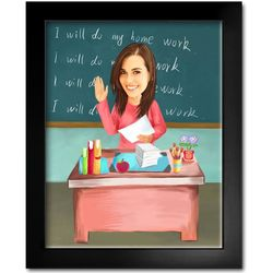 My Teacher Caricature Print from Photos