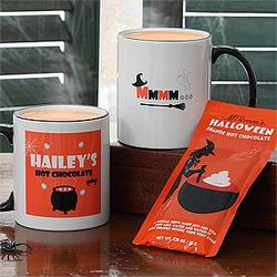 Personalized Halloween Mug & Hot Cocoa Set