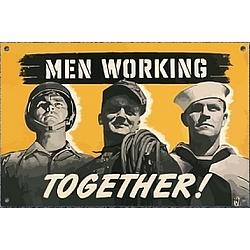 Men Working Together Sign