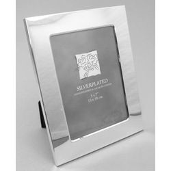 "Engraved 5"" x 7"" Silver-plated Photo Frame"