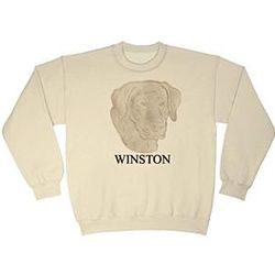 Embossed Dog Breed Sweatshirts