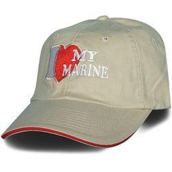 I Love My Marine Embroidered Ballcap