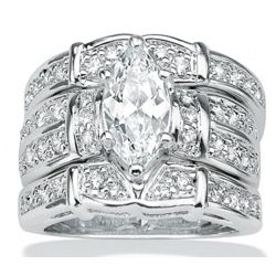 DiamonUltra Cubic Zirconia Sterling Silver Ring