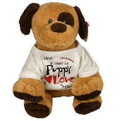 "It Must Be Love ""Barkers"" Dog with Personalized Shirt"