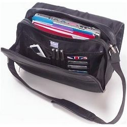 Leather Messenger Bag with Laptop Holder