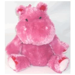 Pink Funny Flirting Hippo
