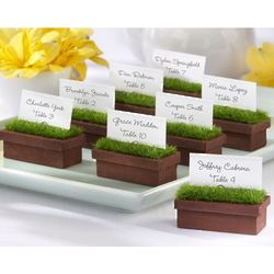 Evergreen Window Planter Place Card Holders