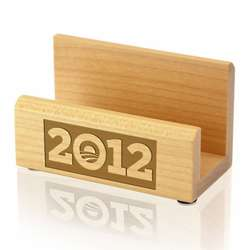 Obama 2012 Wood Business Card Holder