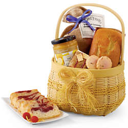 Lemon Lavender Snacks And Treats Gift Basket