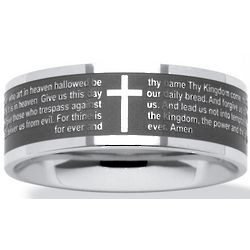 Stainless Steel Lord's Prayer Ring