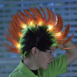 Light-Up Crazy Orange Hair Faux-Hawk