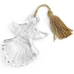 Marquis Crystal Angel Christmas Ornament
