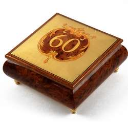 Handcrafted 30 Note 60th Anniversary or Birthday Music Box