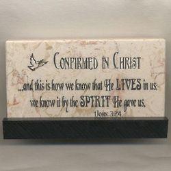 Confirmation Prayer Jerusalem Stone Plaque