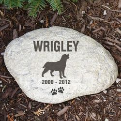 Engraved Dog Memorial Garden Stone