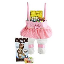 Eggcellent Treats Personalized Ballerina Bunny Legs Tote